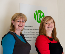 Ginny and Emma - Yes Response's two new employees